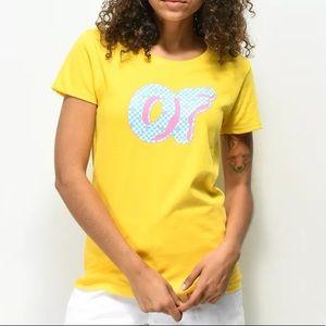 Odd Future OF Checkered Yellow Donut T-Shirt